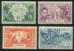 Gabon (1931) N 121 à 124 * (charniere) - Unused Stamps