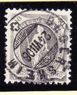 Heimat SG DEGERSHEIM 24.7.1906 Auf 40Rp. Stehende Helvetia #97A - 1882-1906 Wappen, Stehende Helvetia & UPU