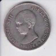 MONEDA DE ESPAÑA DE 5 PTAS DEL AÑO 1888 DE ALFONSO XIII - ESTRELLAS 18-88 (COIN) SILVER-PLATA-ARGENT - [ 1] …-1931 : Reino