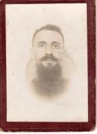 Tirage Photo Originale Cartonnée Sur Papier Albuminé - Portrait De Soldat - Barbe Et Moustache - - Guerre, Militaire
