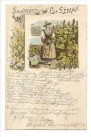 13927 - Souvenir Du Lac Léman Costume Vaudois  Envoyée En 1897 - VD Vaud