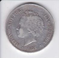 MONEDA DE ESPAÑA DE 5 PTAS DEL AÑO 1892 DE ALFONSO XIII - ESTRELLAS -- -92 (COIN) SILVER-PLATA-ARGENT - [ 1] …-1931 : Reino