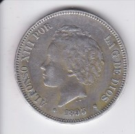 MONEDA DE ESPAÑA DE 5 PTAS DEL AÑO 1893 DE ALFONSO XIII - ESTRELLAS DIFUSAS (COIN) SILVER-PLATA-ARGENT - [ 1] …-1931 : Reino