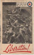RARE TRACT LIBERATION DE LA PROPAGANDE ANTISEMITE ANTI JUIF DISTRIBUE PAR VOS AMIS DE LA R A F - 1939-45