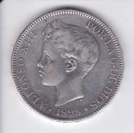 MONEDA DE ESPAÑA DE 5 PTAS DEL AÑO 1898 DE ALFONSO XIII - ESTRELLAS 18-98 (COIN) SILVER-PLATA-ARGENT - [ 1] …-1931 : Reino