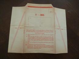 USA Etats Unis V-Mail écrite Mais Non Envoyé - Entiers Postaux