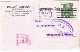WIEN  ELBOGEN EDUARD   1916 - Wien