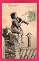 Le Petit Ramoneur Sur La Cheminée, Comment S'éteint Un Feu De Cheminée, 1905, (Bergeret & Cie, Nancy) - Humour
