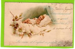 FAIRE-PART DE NAISSANCE Bébé Dans Son Berceau - Nacimientos