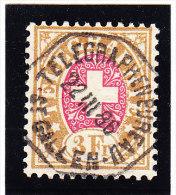 Heimat SG ST GALLEN Telegraphenbureau 22.3.1886 Auf  3Fr. Telegraphen Marke #18 - Télégraphe