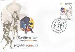 MK 2015-738 EUROBASKET, MAKEDONIA, 1 X 1v, MNH - Mazedonien