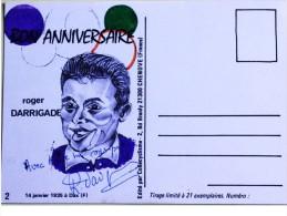 Cyclisme - Roger DARRIGADE - Signée De - Dédicace - Hand Signed - Autographe Authentique  - - Cycling