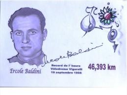 Cyclisme - Ercole BALDINI - Signée De - Dédicace - Hand Signed - Autographe Authentique  - - Cycling