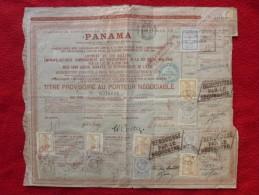 PANAMA TITRE PROVISOIRE Timbre De Controle & Fiscal - Actions & Titres