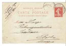 Entero Postal De Francia - Enteros Postales