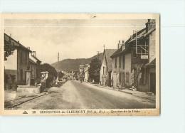 MONESTIER De CLERMONT - Quartier De La Poste ,  La Fontaine Et Café Casse Croûte - Peu Courant - 2 Scans - Ohne Zuordnung