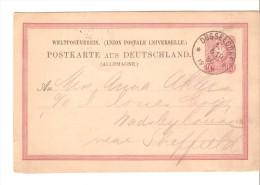 Entero Postal De Alemania Imperio Con Matasellos Dusseldorf - Entiers Postaux