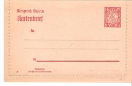 Entero Postal De Alemania Bayern Sin Circular - Bavière