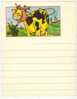 CHAUSSETTES DD : Rare Encart Publicitaire De Carnet Ligné Illustré Maurice PARENT Litho Avec Vache Oiseau Et Chaussette - Produits Pharmaceutiques