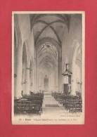 * CPA..dépt 80..ROYE :  L' Eglise Saint Pierre , Vue Intérieure De La Nef  : Voir Les 2 Scans - Roye