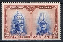 Sello 25 Ctos. Catacumbas San Damaso, Edifil Num 409 * - 1889-1931 Reino: Alfonso XIII