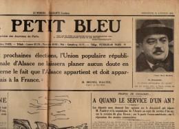 16 K ) JOURNAL  - LE PETIT BLEU -  18 JANVIER 1928 - Journaux - Quotidiens