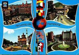 Pamplona   H976       ( 4 Vistas )  Recuerdo De Pamplona - Espagne