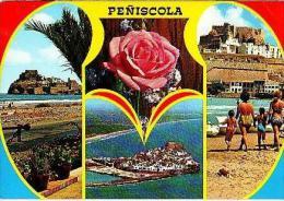 Peniscola   H979        ( 4 Vistas ) Bellezas De La Ciudad - Espagne