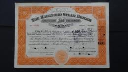 USA - The Hartford Stream Boiler Company - Nr:10586 / 1937 - 5 Shares - Look Scans - Bank & Versicherung