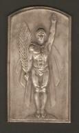 Plaque ART-DECO - Victoire -  Par Joseph WITTERWULGHE - Pour Joseph Sulon Champion De Belgique De Lutte 1939 - Brons
