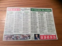 "Calendrier 2000 ""Le Calendrier Des Turfistes (TURF, Cheval)"" (10,5x15cm) - Calendari"