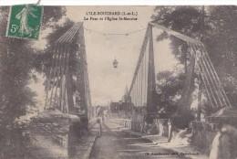 L'ILE BOUCHARD  LE PONT ET L'EGLISE ST MAURICE (LF) - L'Île-Bouchard