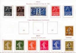 Exposition Coloniale De Paris, Semeuse, 270 / 274- 277A /279B*, Cote 69 €, - Neufs