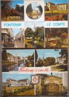 FONTENAY LE COMTE  (85). LOT DE 3  CARTES MULTIVUES  AVEC  BLASON , ECUSSON . ANNEES 1980 à 91 - Fontenay Le Comte