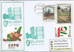 """IRLANDE EXPO MILANO 2015 """"Feeding The Planet"""". Belle Lettre Du Pavillon Irlandais à L'Expo Universelle  De Milan - 1949-... Repubblica D'Irlanda"""