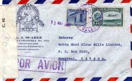 VENEZUELA 1944 - LP-Brief Mit 2 Fach Frankierung Gel.v.Venezuela > Montreal, Examined By Censor - Venezuela