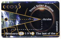 ARUBA REF MV CARDS ARU C19 DATE 04/98 ECLIPSE - Aruba