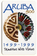 ARUBA REF MV CARDS ARU C23 DATE 03/99 ARUBA 500 YEARS - Aruba