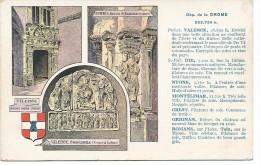 DEPARTEMENT DE LA DROME  -  AU DOS PUB PASTILLES VALDA - Romans Sur Isere