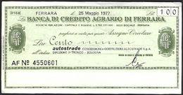 Mini Assegno Banco Di Napoli  £ 100 - [10] Assegni E Miniassegni