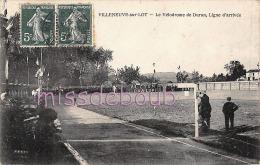 47 - VILLENEUVE SUR LOT  - Vélorome De Duran - Ligne D'Arrivée  - Sport - Cyclisme - 2 Scans - Villeneuve Sur Lot