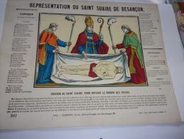 Image - Représentation Du Saint Suaire De Besançon. Oraison Au Saint Suaire, Pour Obtenir Le Pardon Des Péchés.n - Images Religieuses