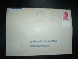 LETTRE TP LIBERTE DE GANDON 2,20 BORD DE FEUILLE NUMEROTE OBL.MEC.7-2-1986 NIMES BEAUSOLEIL (30 GARD) - 1982-90 Liberté De Gandon