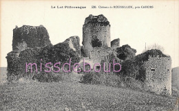 46 - ROUSSILLON - Le Château  -  Dos Vierge - 2  Scans - Cahors
