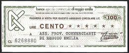 Mini Assegno Credito Italiano £ 100 - [10] Assegni E Miniassegni
