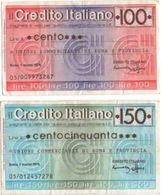Mini Assegno Credito Italiano £ 150 - [10] Assegni E Miniassegni