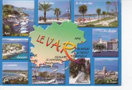 LE VAR, Carte, 9 Vues, Ed. Aris 1980 Environ - Cartes Géographiques