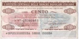 Mini Assegno Istituto Centrale Delle Banche Popolari Italiane £ 100 - [10] Assegni E Miniassegni