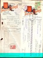 Factuur Facture - & Wissel Reçu - Tuileries Du Pottelberg Courtrai Kortrijk 1933 - Zonder Classificatie