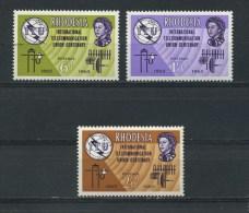 RHODESIA    1965    I T U Centenary    Set  Of  3    MNH - Rhodesia (1964-1980)